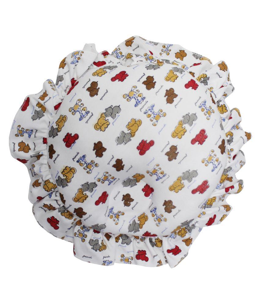 moms pet White Cotton Normal Baby Pillow