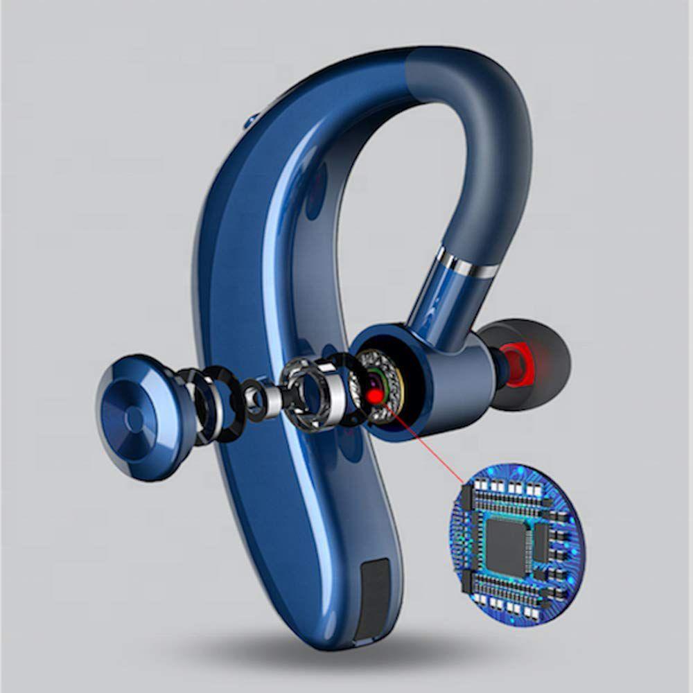 STONX S109 Bluetooth Wireless Headset with Mic   Blue   Handsfree Calling  amp; Music