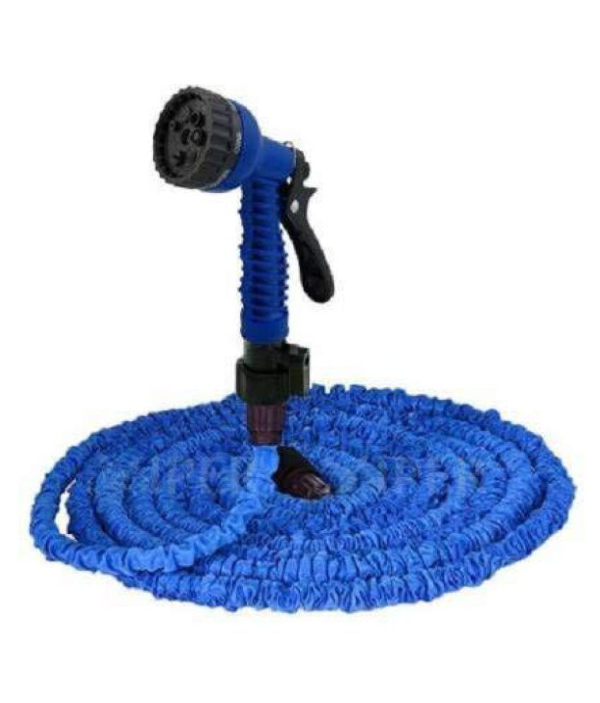 Kindle Car Wash Gun with 40 feet Hose Pipe Nozzle for Gardening,Cleaning, Wash Car Bike,Pet Wash with Water Spray Gun and 7 Adjustable Flow Modes Flex