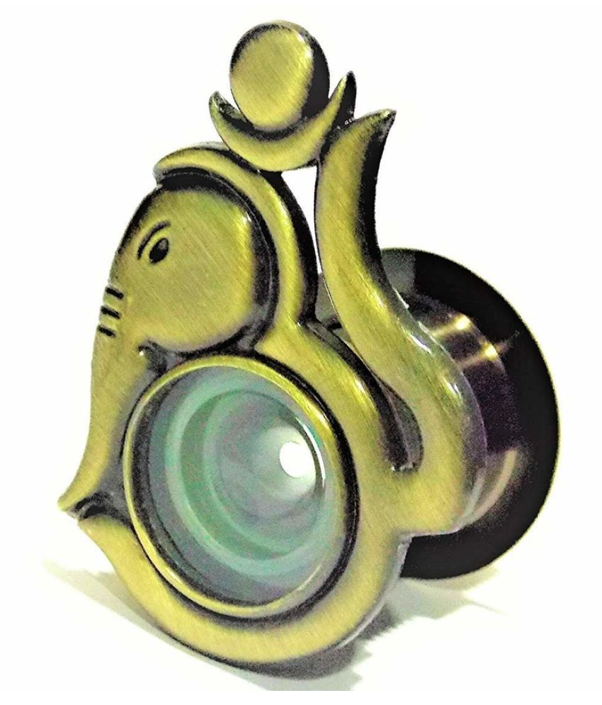EYE BERRY BASI SALES WITH MISCELLANEOUS DEVICE OM Ganesh Antique Design 180 Degree Door Viewer Crystal Clear Lens Perfect Match with Handle (Multicolour, Standard)