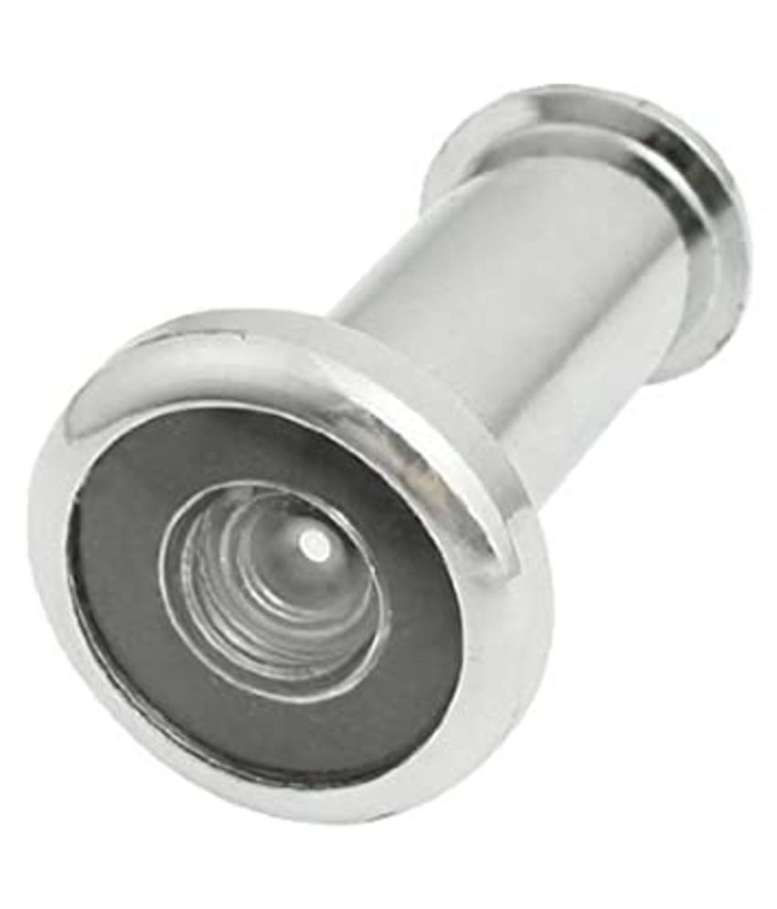 Eye Berry Home Security 180 Degree Angle Alloy Door Eye Viewer Peephole Silver Tone