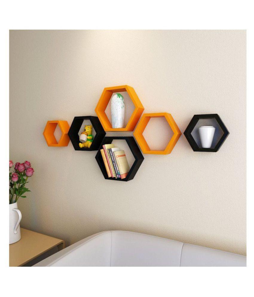 Clover Crafts Floating Shelves Multicolour MDF - Pack of 1