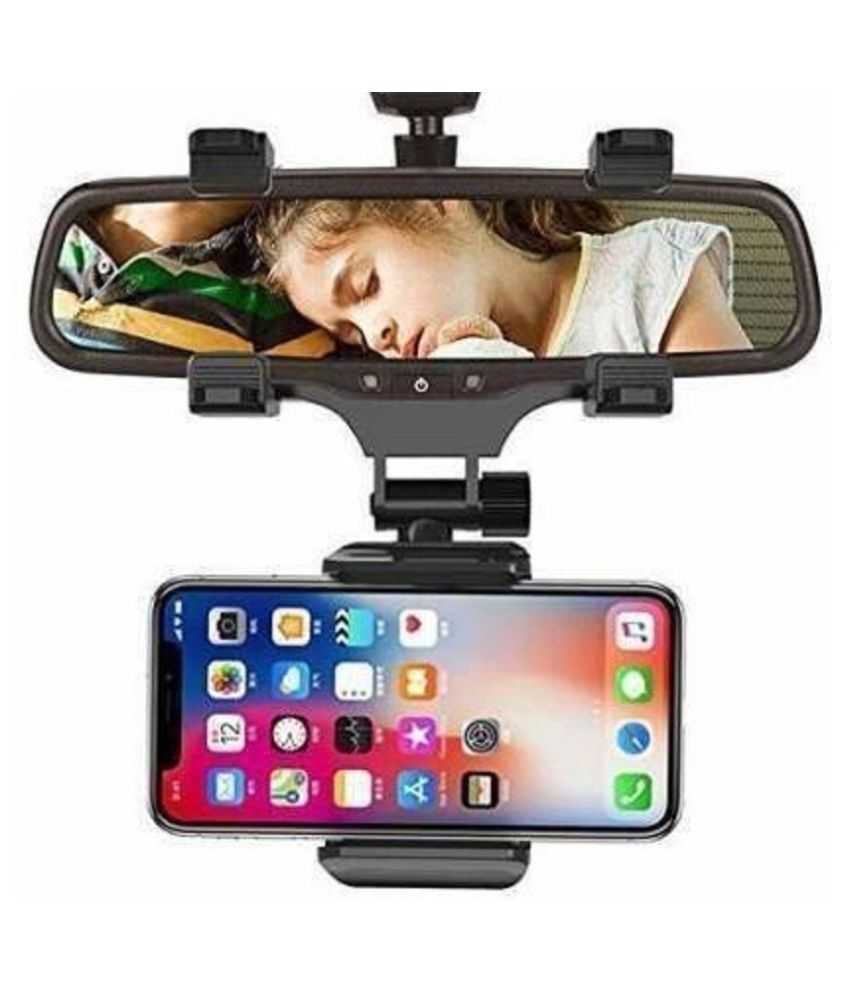 Dhairya Creations Car Mobile Holder Single Clamp for Windshield Only - Black
