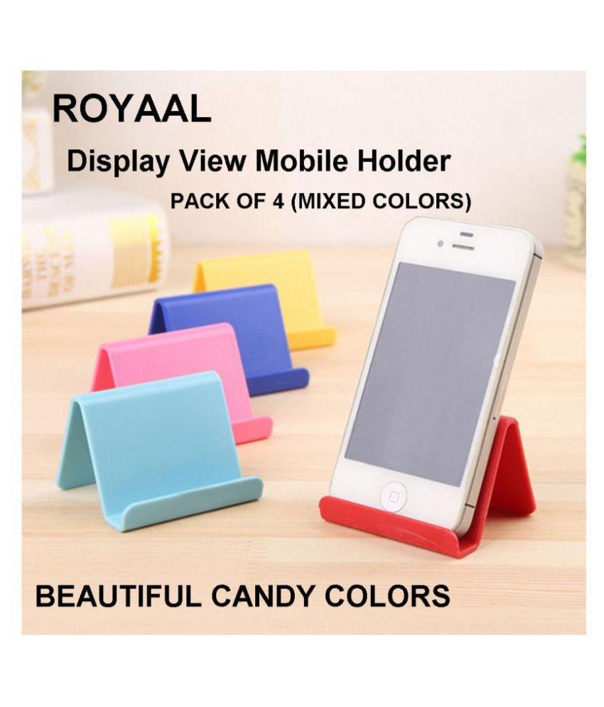 ROYAAL PACK OF 4 DISPLAY VIEW Desktop Stand for all smartphones, Phone &Tablets Redmi, Samsung, Oppo, Vivo, realme, honor, Vivo v11, ..........