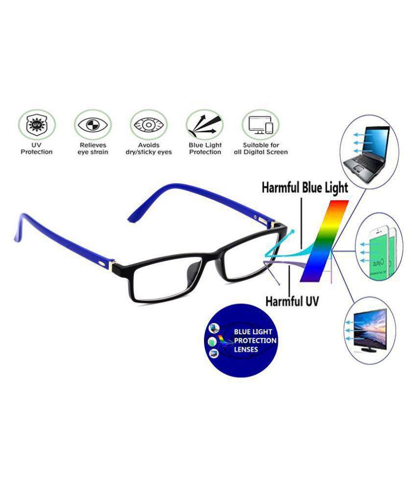 Unisex Blue Cut & Anti-glare Computer Glasses | For Computer Mobile TV | Eye Protection | Zero Power | Brand - HRINKAR