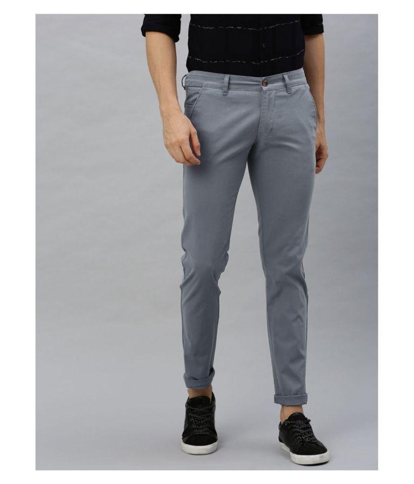 Urbano Fashion Grey Slim -Fit Trousers
