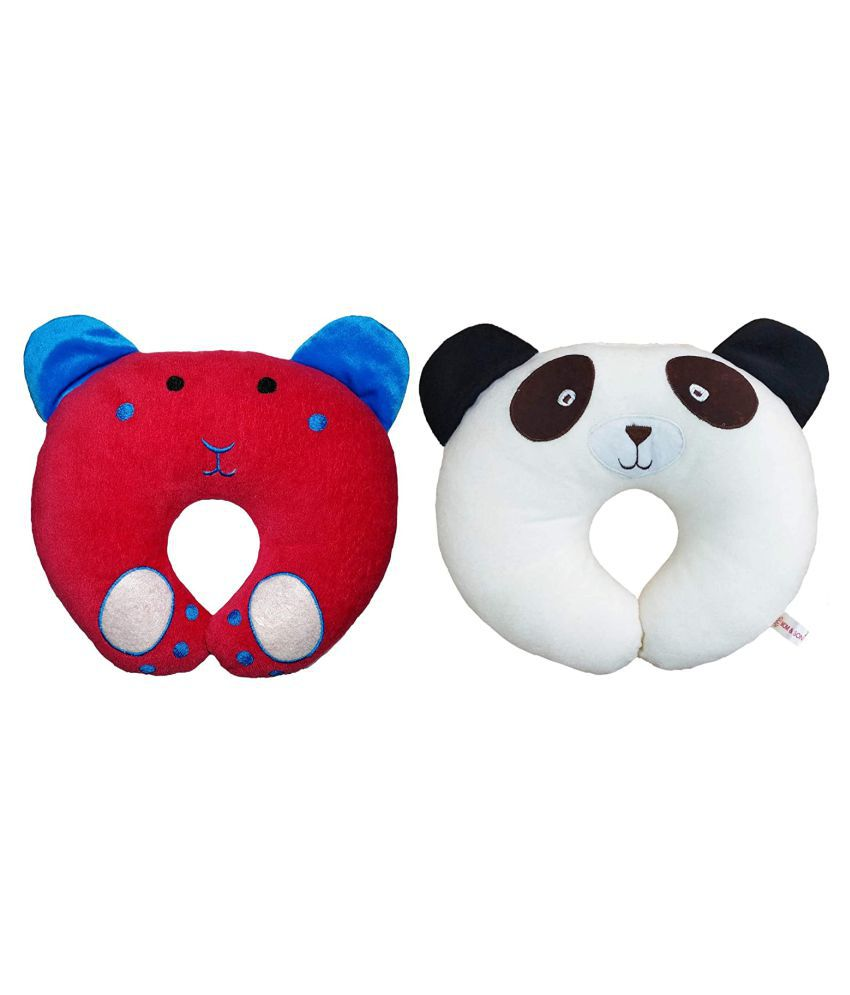 HomeStore-YEP Multi-Colour Cotton U shape Baby Pillow