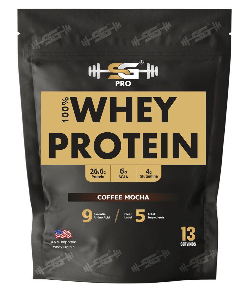 SG Welness Whey protein Powder (Coffee mocha flavor) 458 gm