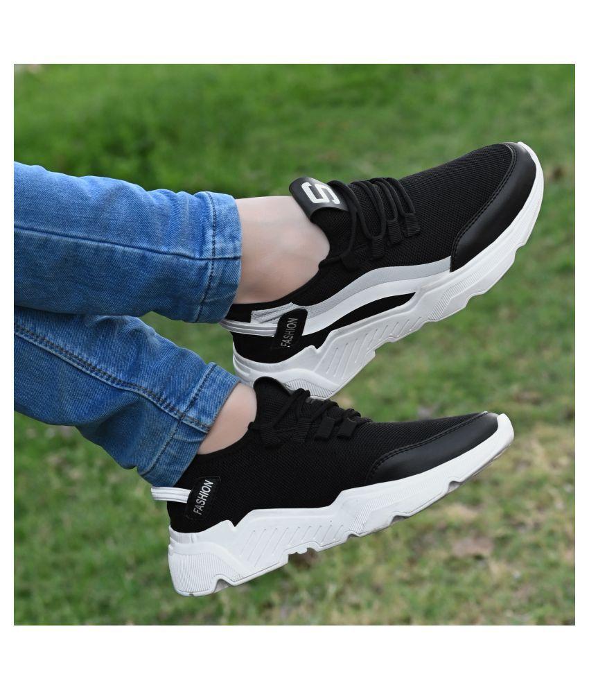 George Walker Black Running Shoes