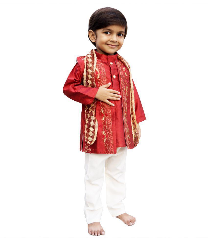 Moreno Kids Boys Indo western ethnic wear kurta and breeches