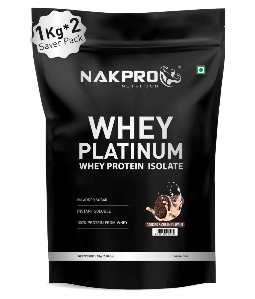 NAKPRO PLATINUM 100% Whey Protein Isolate 2 kg