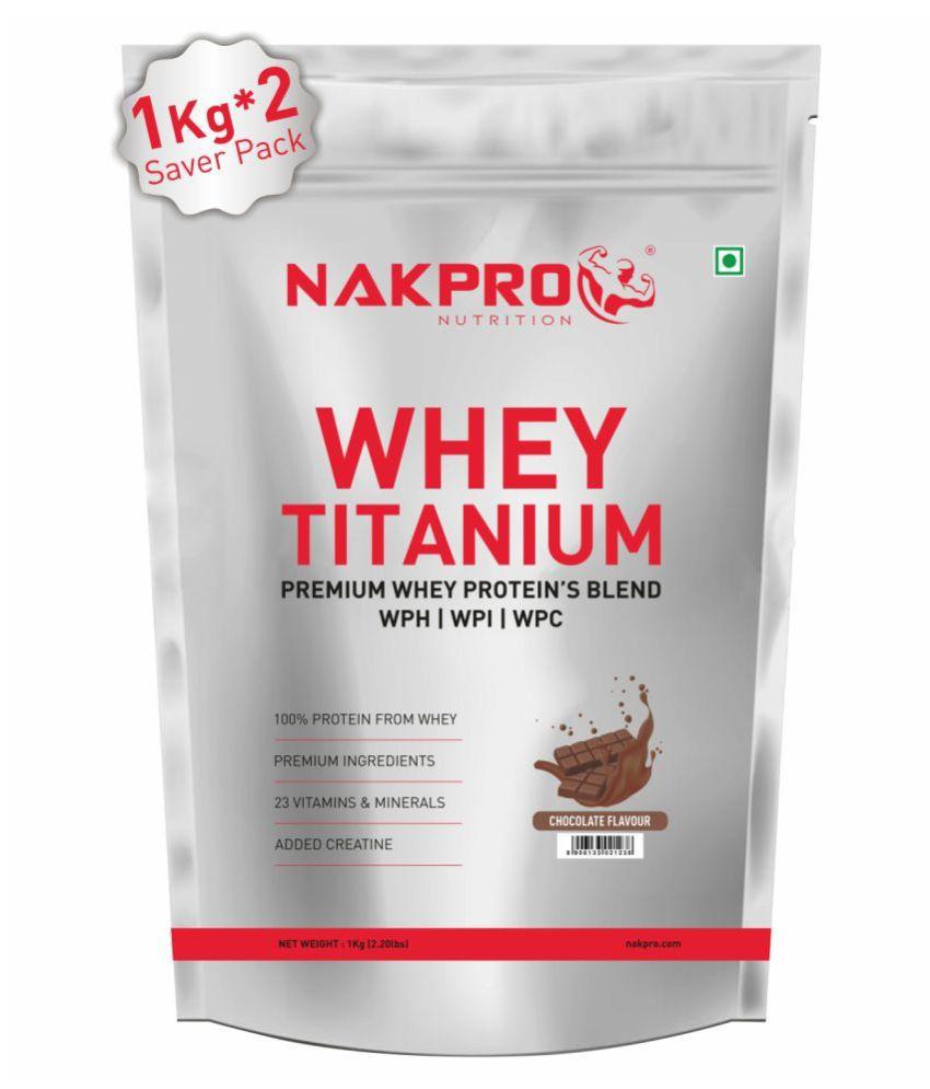NAKPRO TITANIUM Tri Blend Whey Protein 2 kg