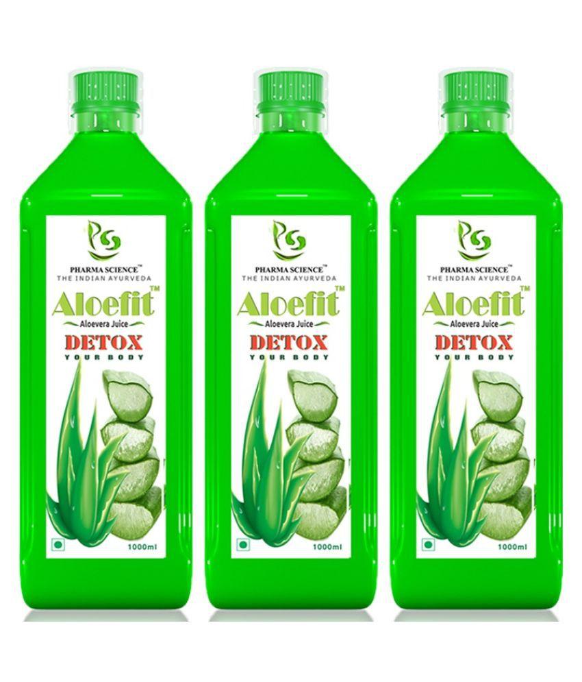 Pharma Science Aloe Vera Juice Liquid 1000 ml Pack of 3
