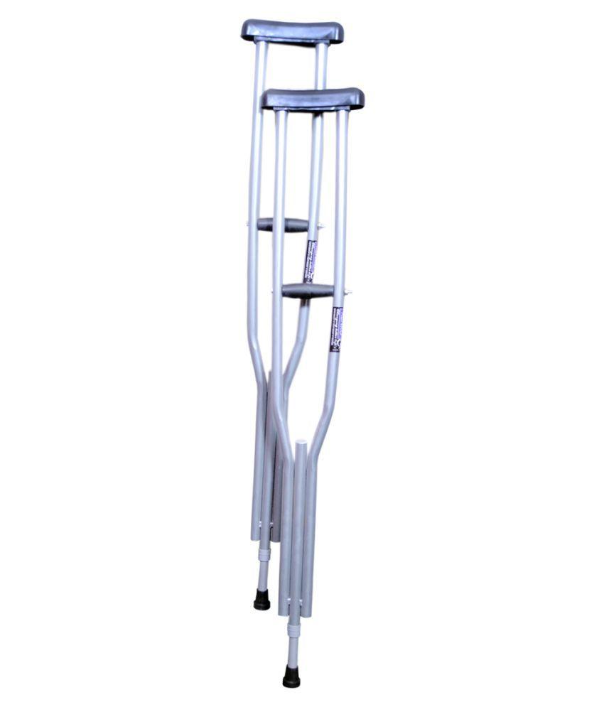 KENKO mobility i-22 Underarm Crutch Axillary height adjustable Medium 2 gm Pack of 2