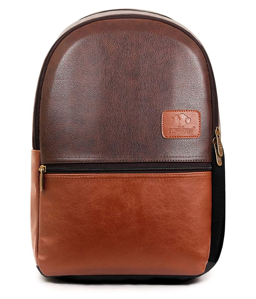 The Clownfish Brown Laptop Bags