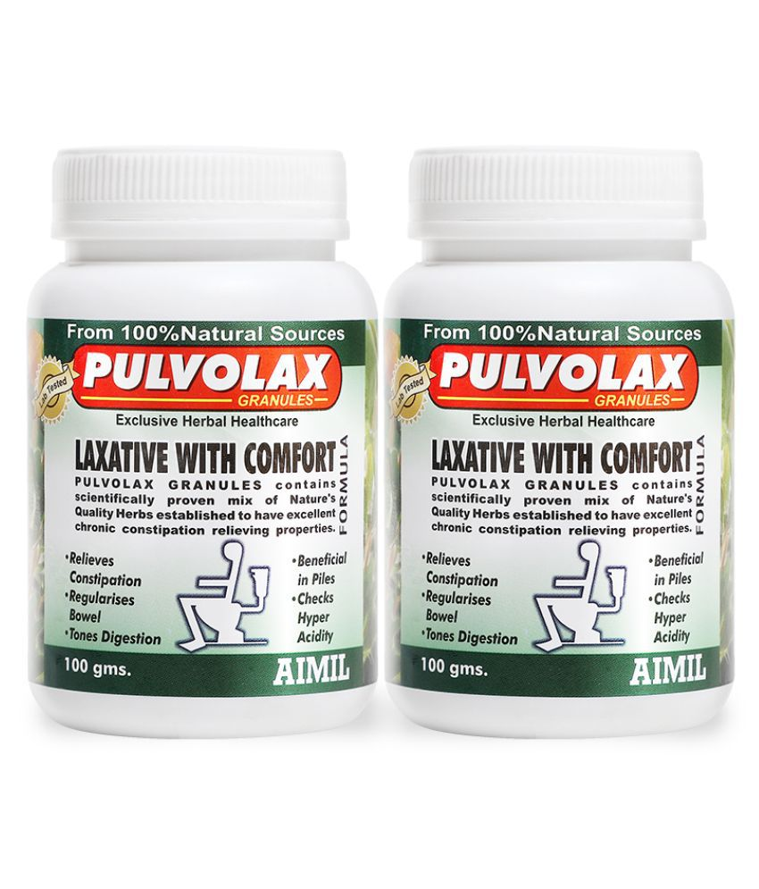 Aimil Pulvolax Granules for Constipation Powder 100 no.s Pack Of 2