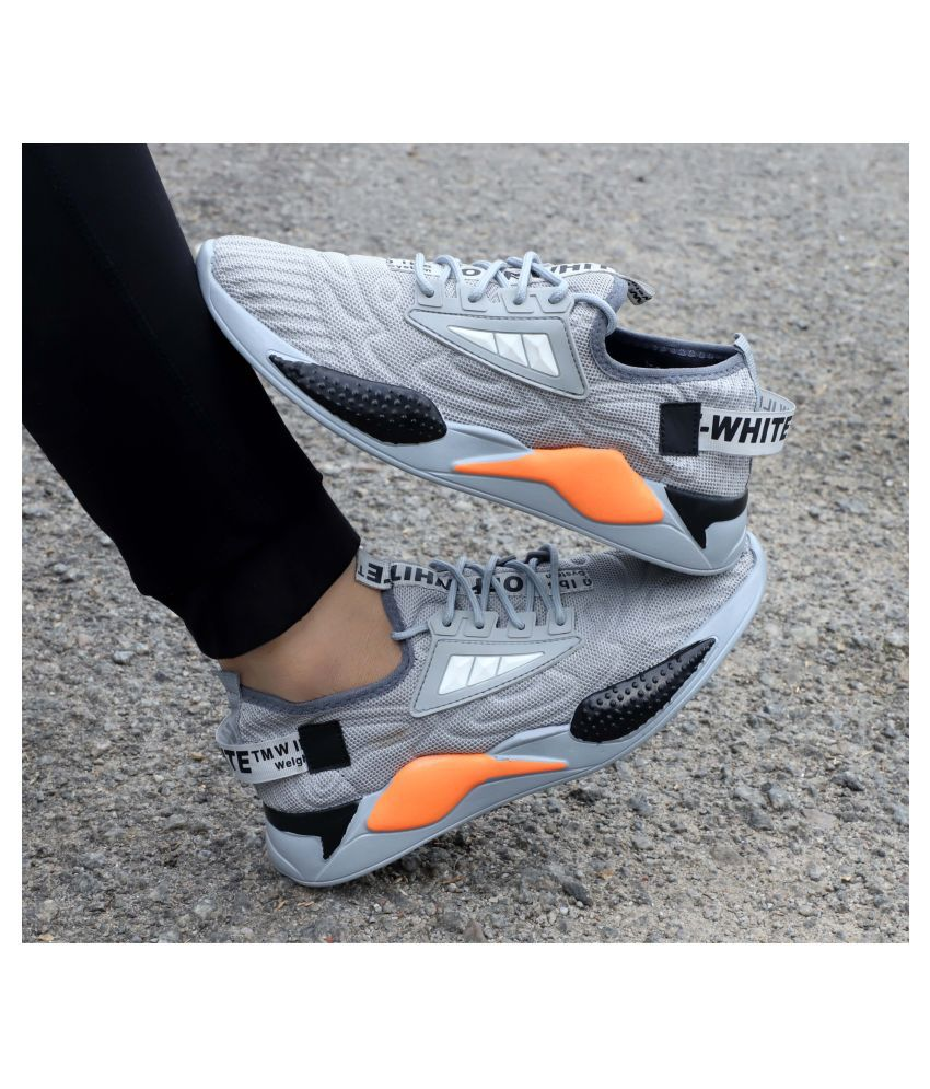 KNIGHT WALKERS sport Gray Running Shoes