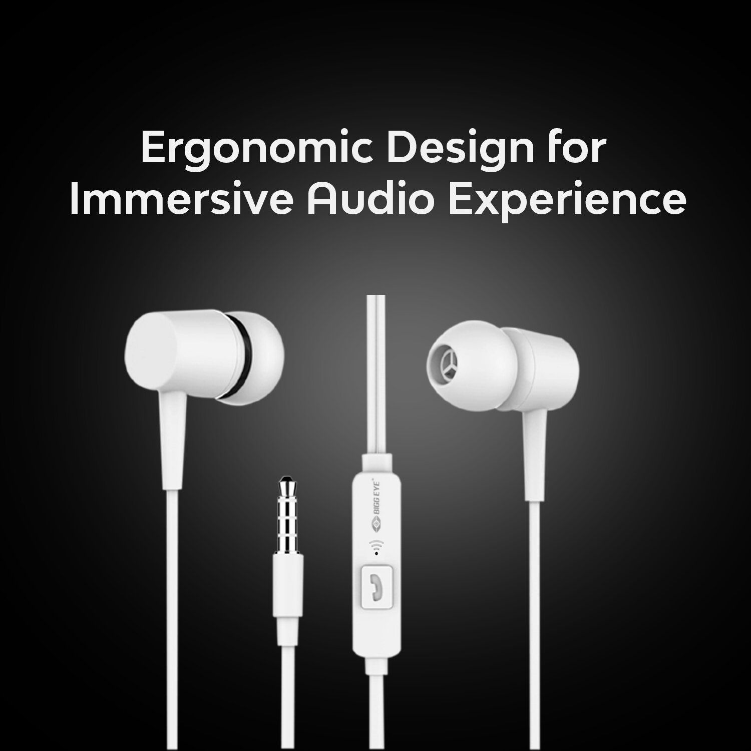 Sleek Samsung wired In Ear Wired With Mic Headphones/Earphones- White color