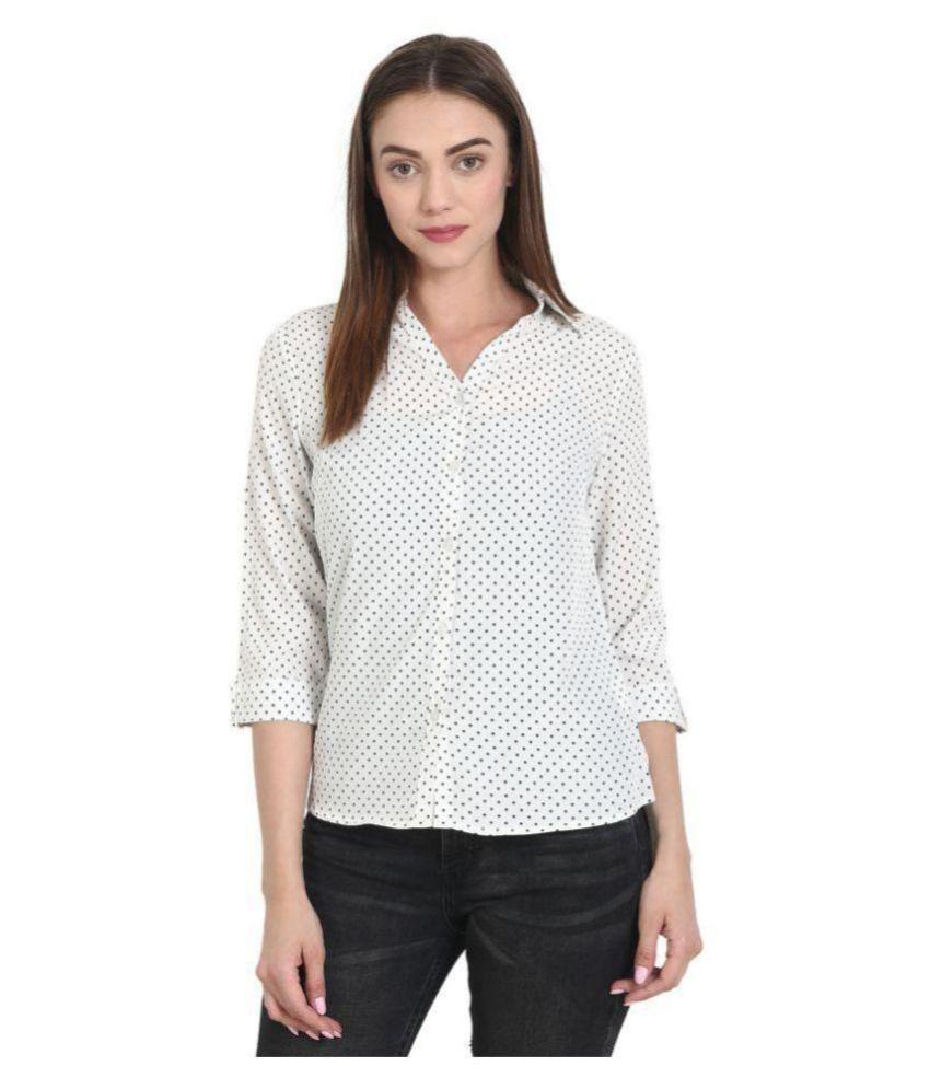 WISH TREE Off White Poly Crepe Shirt - Single