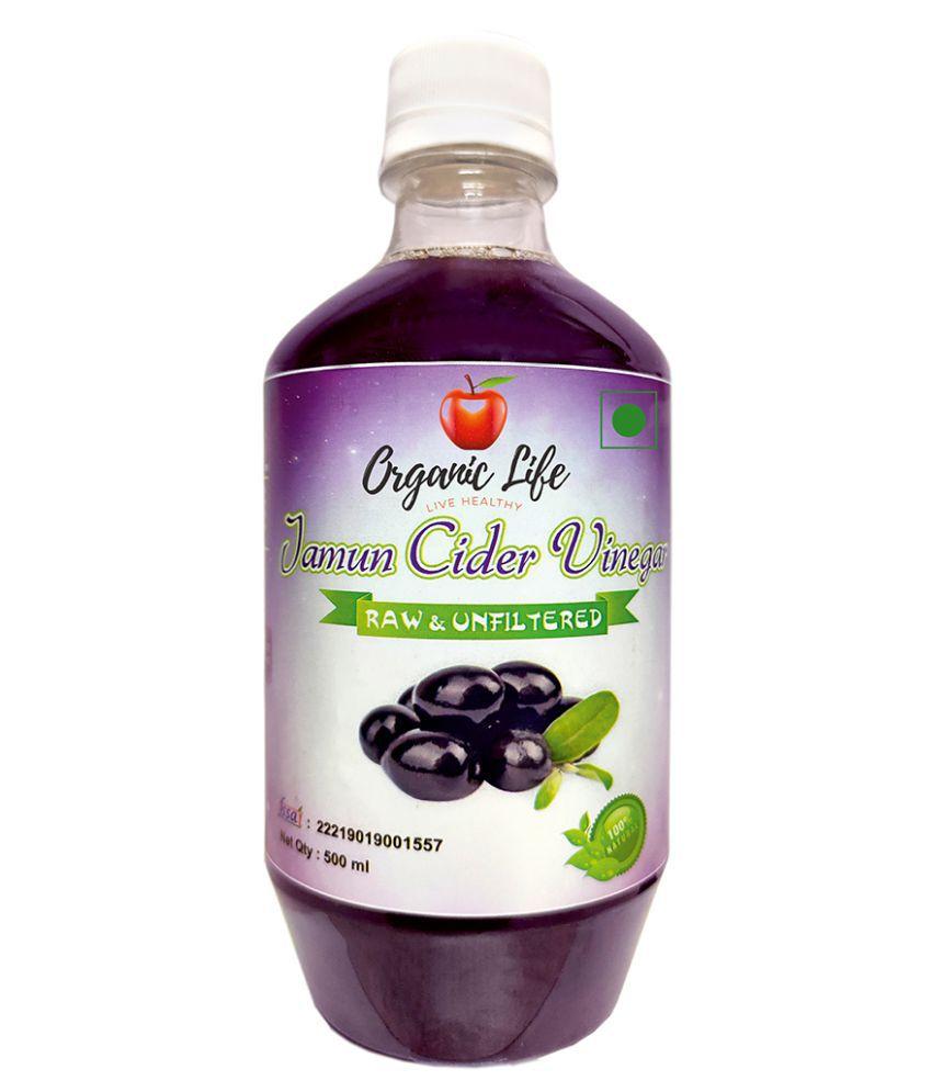 Organic lIfe Jamun Cider Vinegar Raw & Unfiltered 500 ml