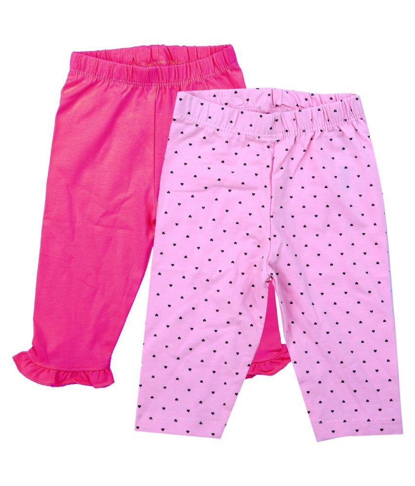 Icable Baby Girls/Boys Kids Regular fit Cotton Leggings