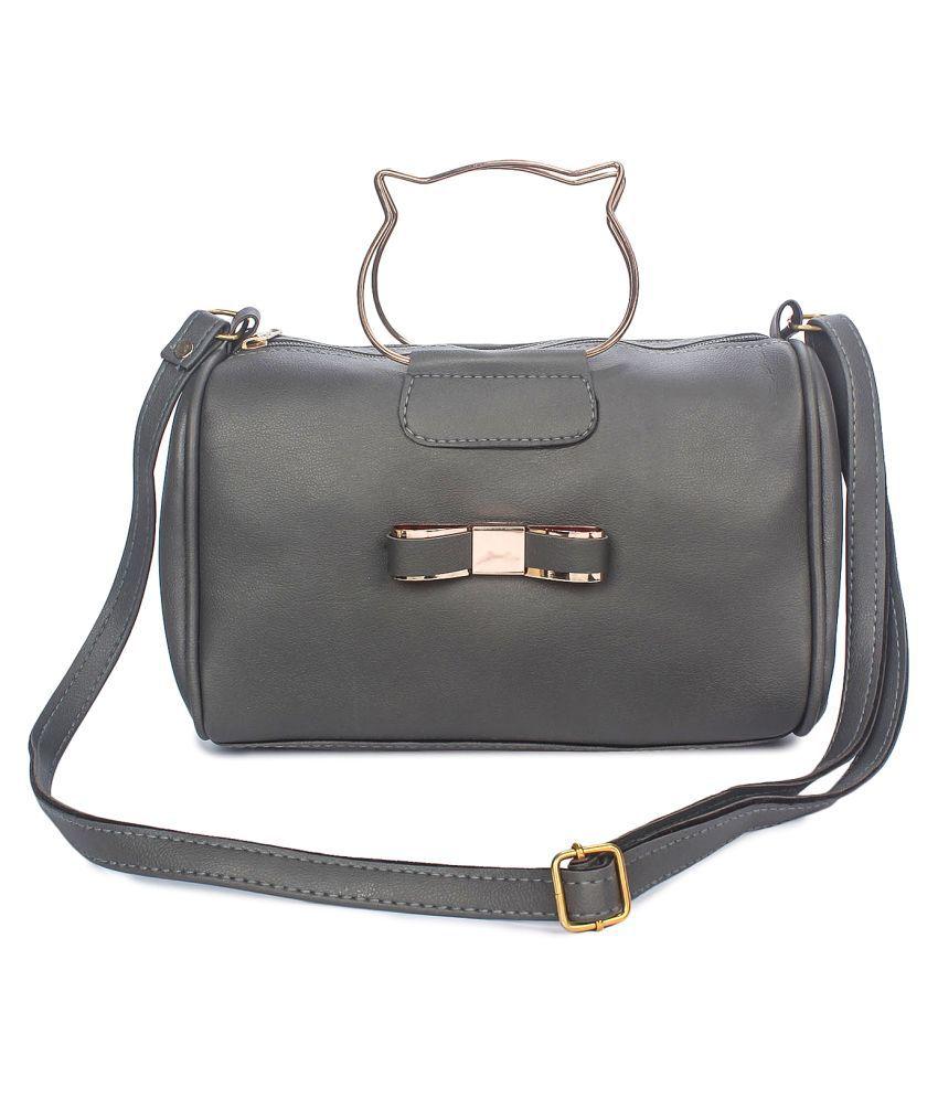 Vunik Blue Faux Leather Satchel Bag