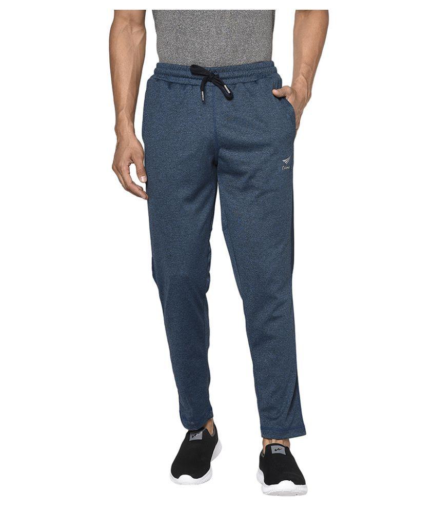 OAKMANS Blue Polyester Trackpants