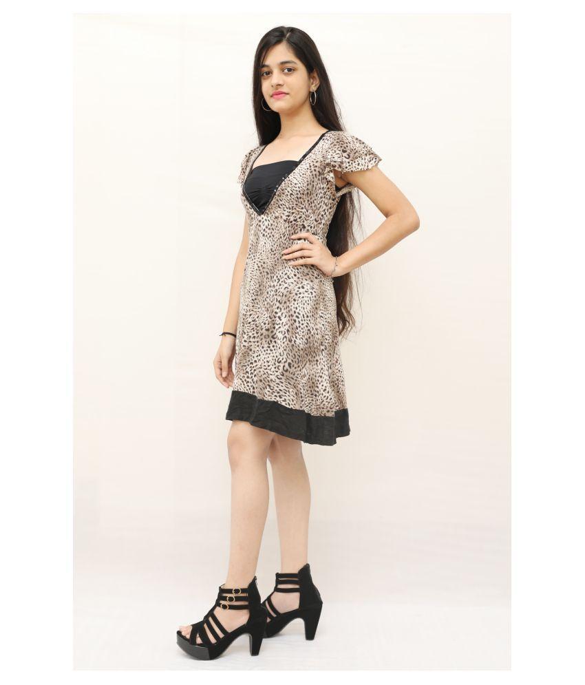 ARRICK FASHION Linen Black A- line Dress -