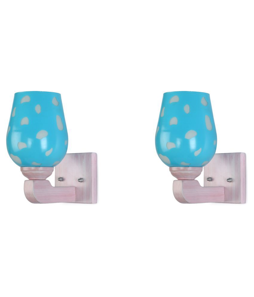 AFAST LED Lamp Glass Wall Light Blue - Pack of 2