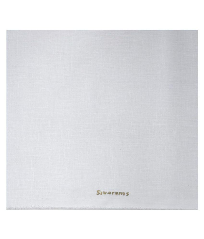 Siyaram's White Cotton Blend Unstitched Shirt pc