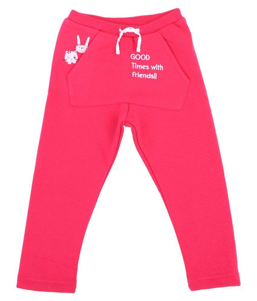 Bodycare Kids Infant Girls Fucshia Printed Trackpant