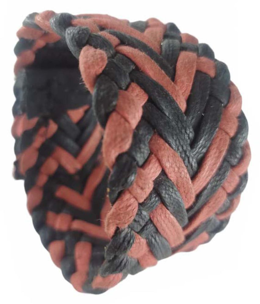 Leather bracelet for Men: leather bracelet men; Boys Maroon*Handcrafted; Wrist Band For Men Velcro Bracelet
