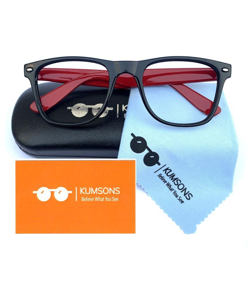 Unisex Blue Cut & Anti-glare Computer Glasses   For Computer Mobile TV   Eye Protection   Zero Power   Brand - kumsons