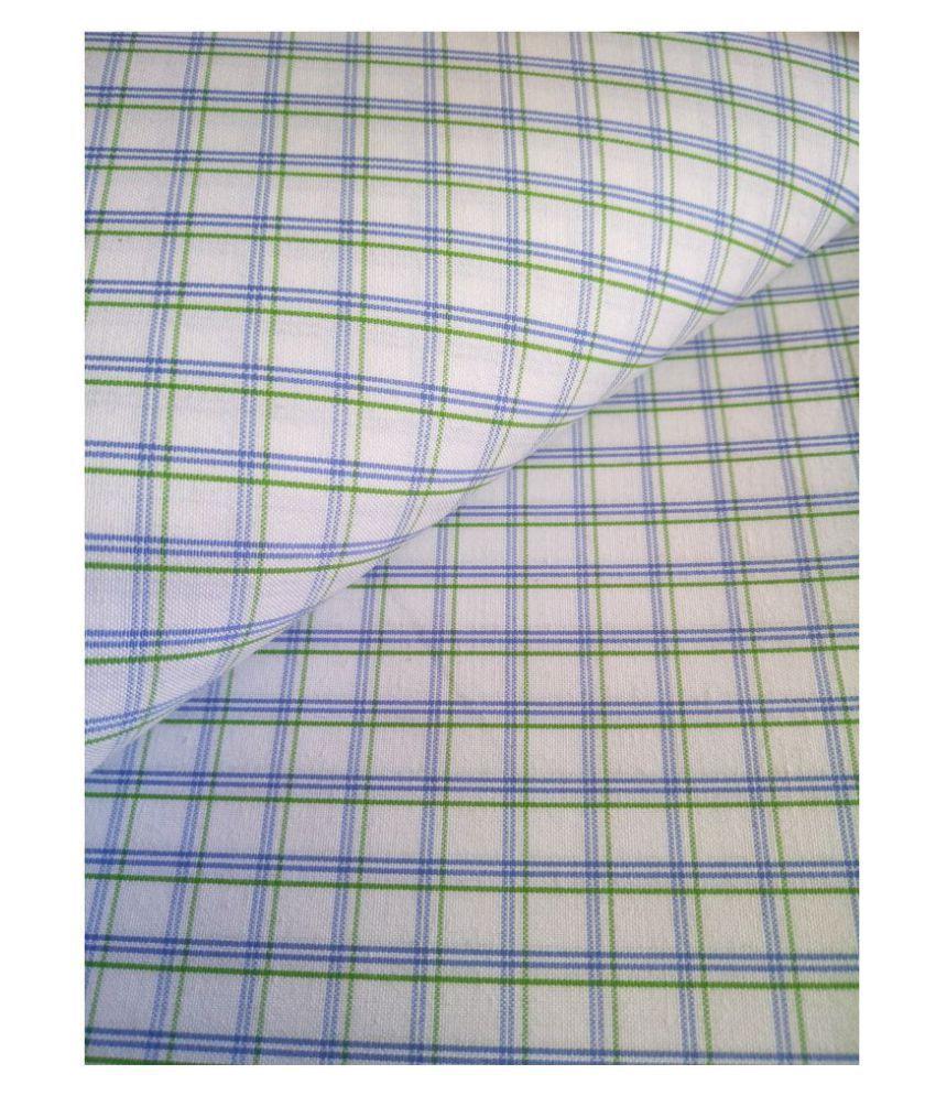 Makhanchor Multi Cotton Blend Unstitched Shirt pc