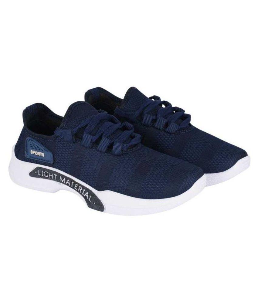 Crv Light Weight Sports Blue Running Shoes
