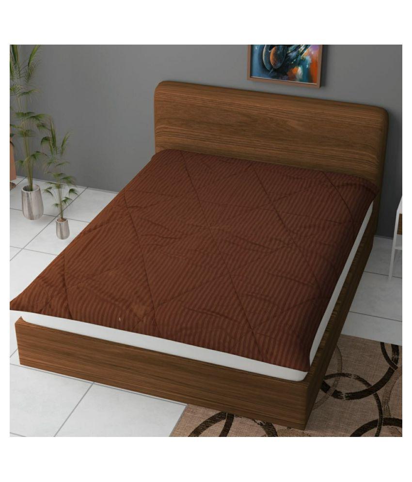 Koli collections 001 Brown Poly Cotton Mattress Protector