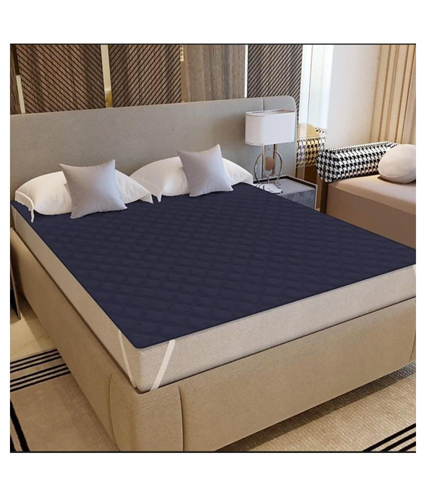 Koli collections 002 Blue Poly Cotton Mattress Protector