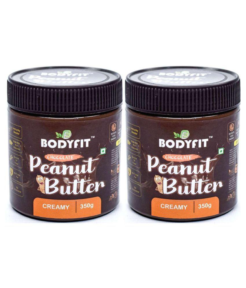 BODYFIT PEANUT BUTTER DARK CHOCOLATE Butter Creamy 700 gm Pack of 2
