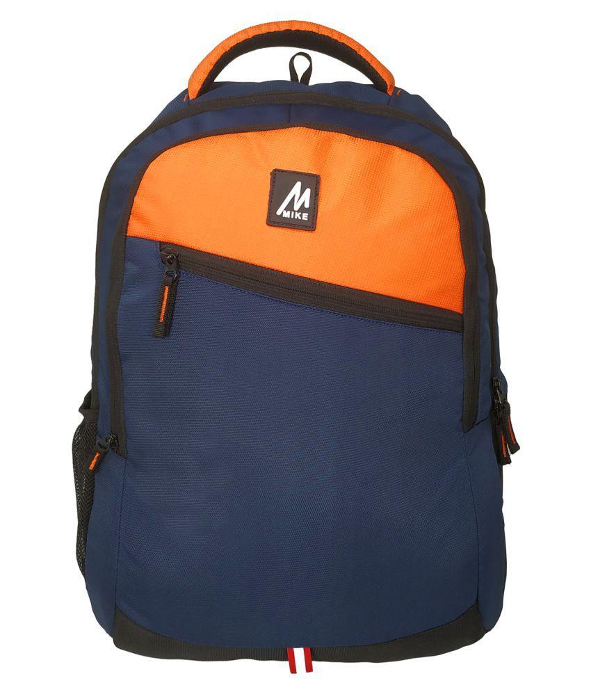 MIKE Orange Polyester College Bag