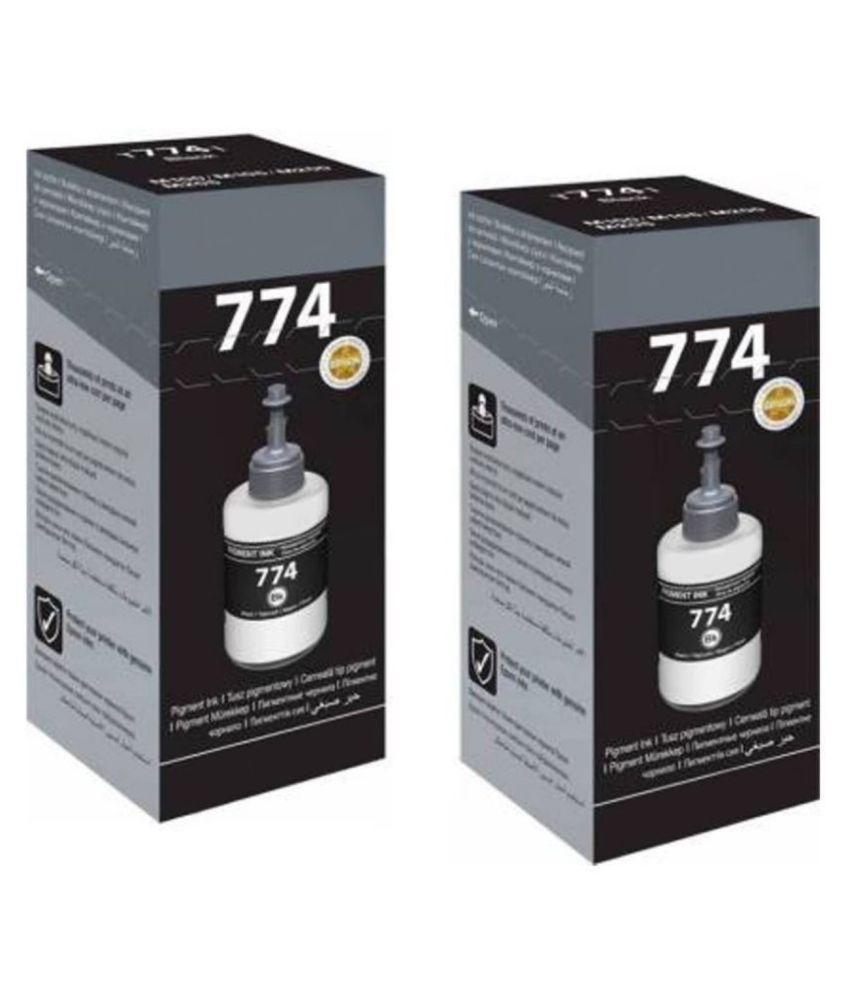 Refill 774 Black Pack of 2 Compatible with Epson Printer : M100, M105, M200, M205, L605, L655, L1455, M1120, M1170, M1180, M2140, M3180,