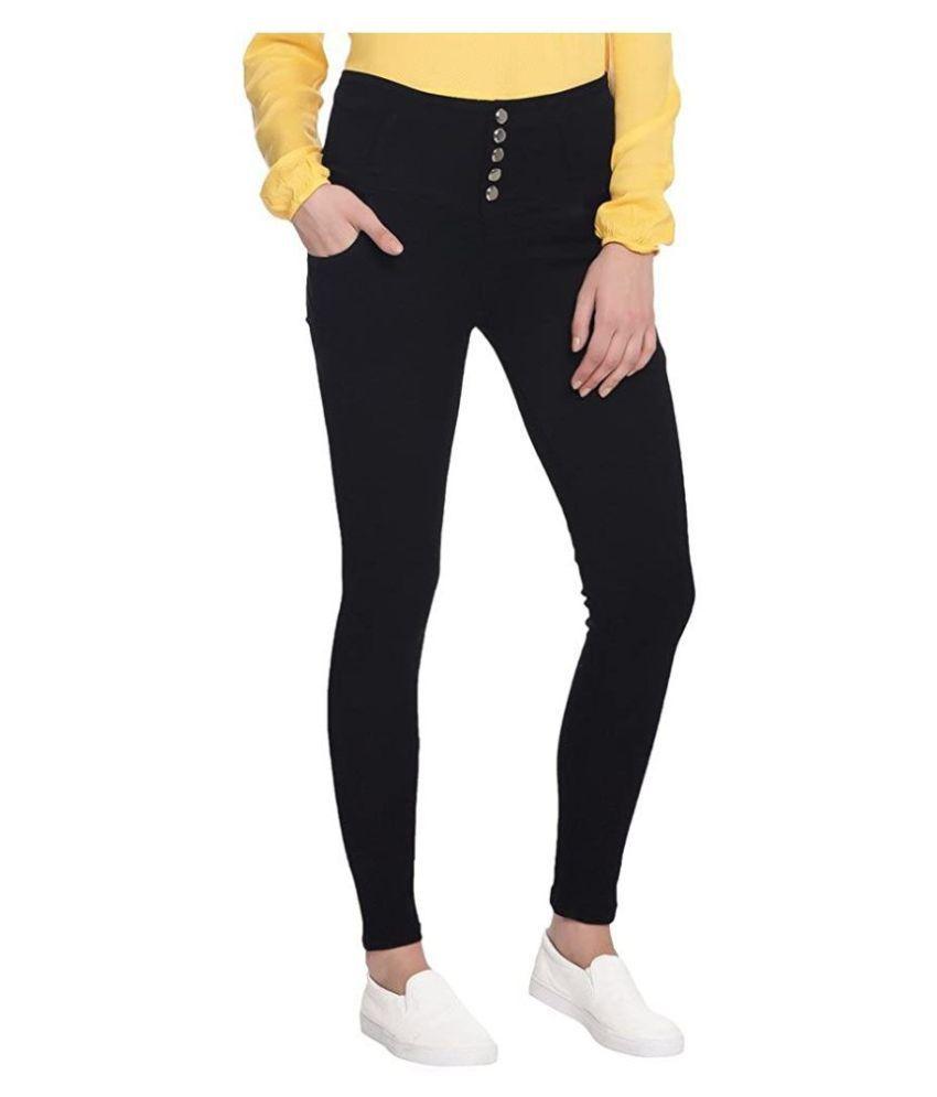 Broadstar Cotton Lycra Jeans - Black Single