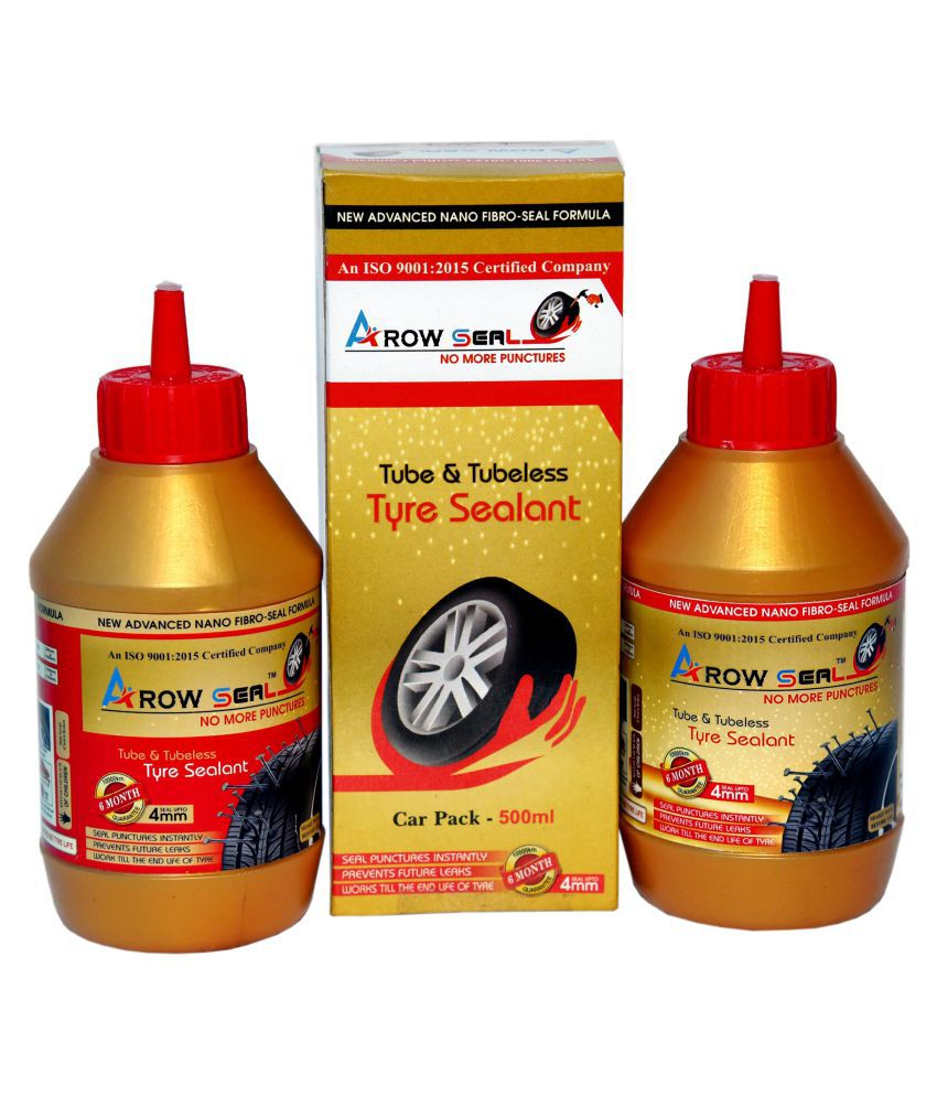 Arowseal Tyresealant (Liquid Latex Rubber) CAR PACK FOR TUBELESS TYRES Tubeless Tyre Puncture Repair Kit 5 - 10 Strips