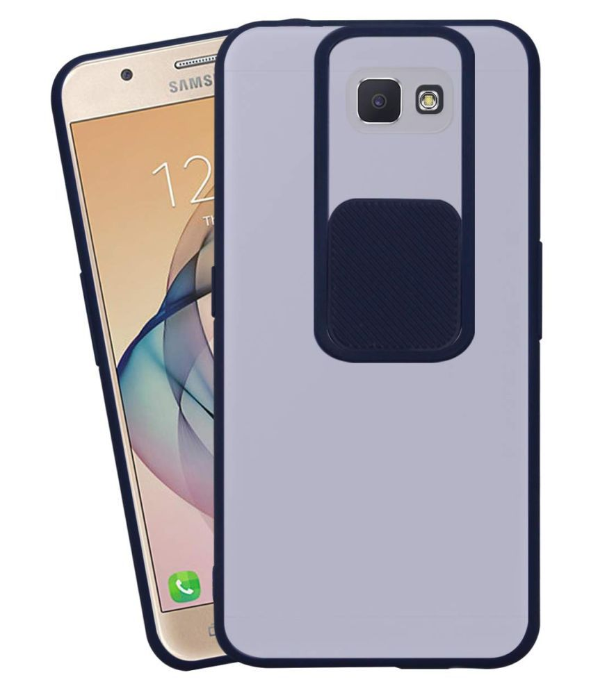 Samsung Galaxy J7 Prime Hybrid Covers Shining Stars   Blue Hybrid Shutter Back Cover