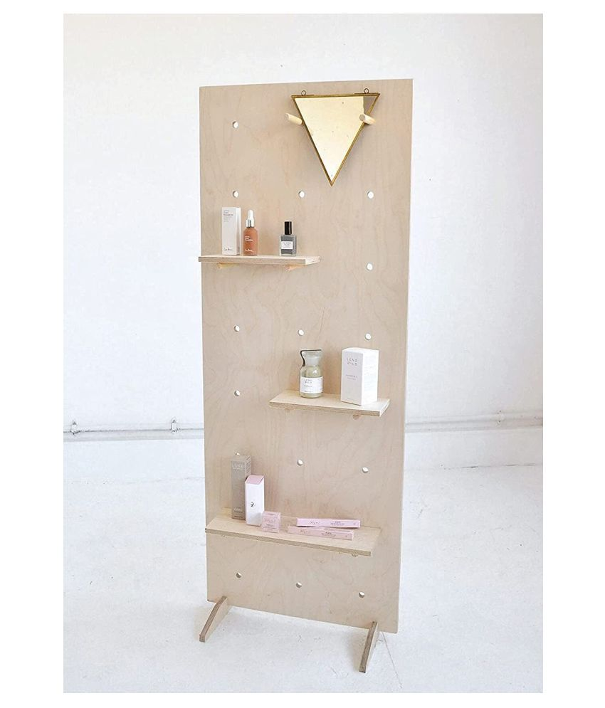 Whittlewud Free Standing Display Birch Plywood (Hight 90 cm x Width 50 cm) Pegboard / Shelving / Display Unit, Functional and Beautiful pegboard