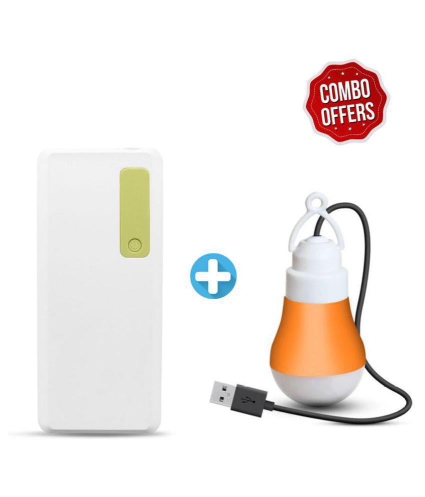 Expode With USB LED Bulb 10000  mAh Li ion Power Bank Green