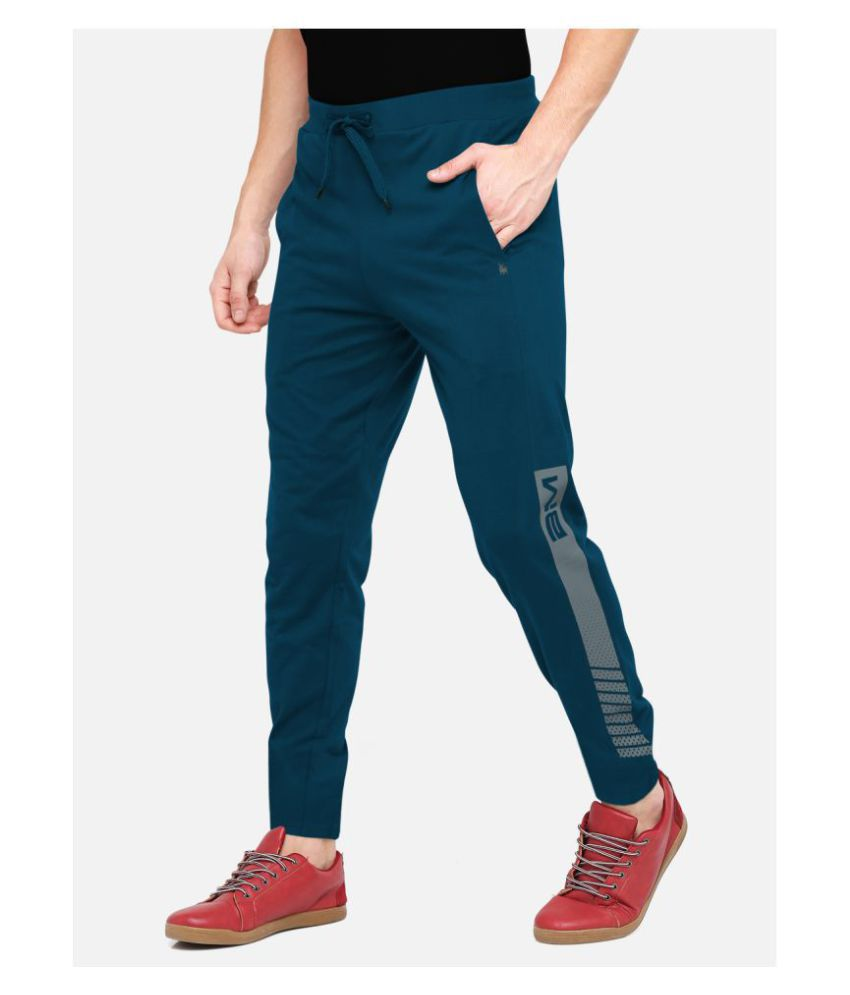 BULLMER Blue Polyester Trackpants