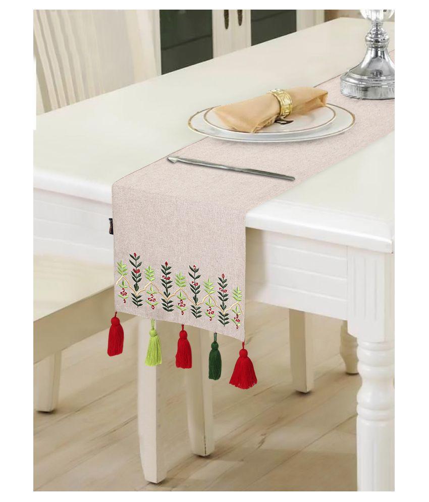 mezposh 6 Seater Cotton Single Table Runner