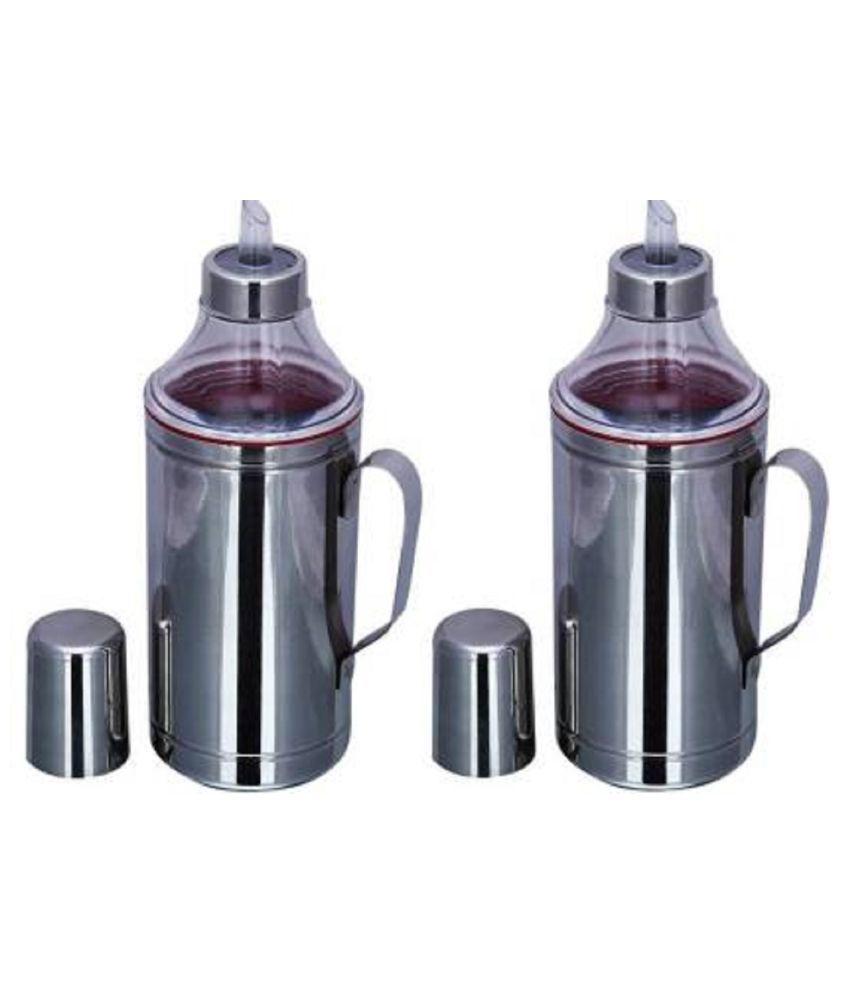 LIMETRO STEEL 1000 ml Cooking Oil Dispenser Set  Pack of 2