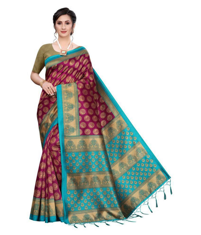 molvo Maroon Kanchipuram Saree -