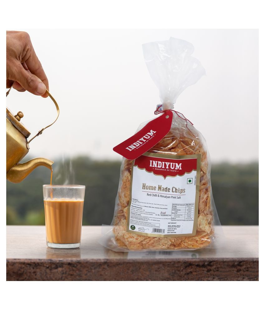 Indiyum Home Made Potato Chips 300 g Pack of 2